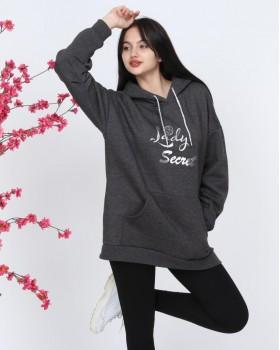 Cosiness - Lady Secret Kadın Füme Kapşonlu Sweatshirt