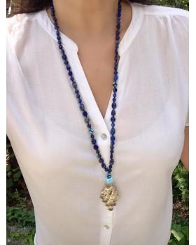 Cosiness Jupiterinkızı Lapis Lazuli-Tibet Akiği Doğal Taşlı Kolye