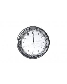 Cosiness Bellısıma Yuvarlak Eskitme Duvar Saati - Gümüş