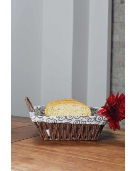 Cosiness Hasır Dikdörtgen Ekmek Sepeti