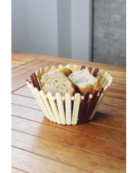 Cosiness Bambu Yuvarlak Ekmek Sepeti