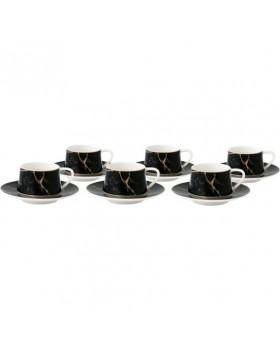 Black Desenli 6 Lı Kahve Fincan Takımı