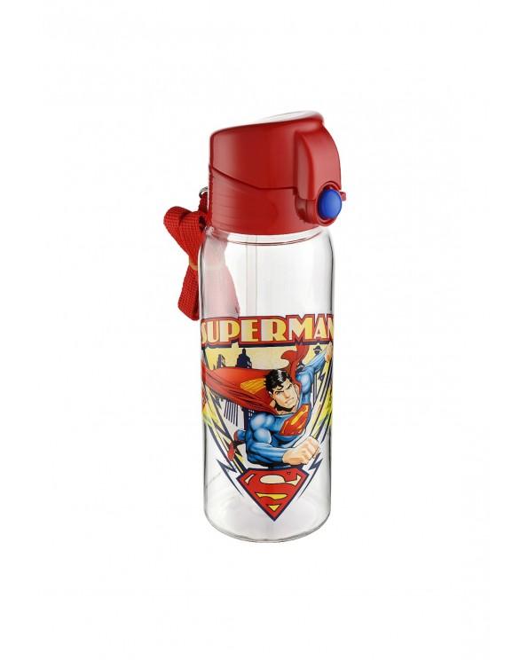 Süperman Lisanslı Pipetli Kilitli Matara - Suluk 650 ml