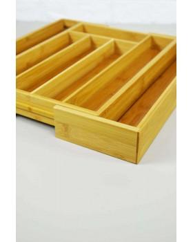 Bambu 7 Bölmeli Açılabilen Çekmece Düzenleyici Kaşıklık