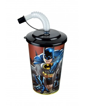 Batman Kapaklı Pipetli Bardak 400 Ml.