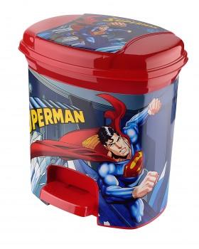 Superman Lisanslı Pedallı Çöp Kovası 3 Lt