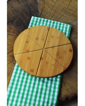 Cosiness Bambu Dilim Pizza Sunum Tabağı