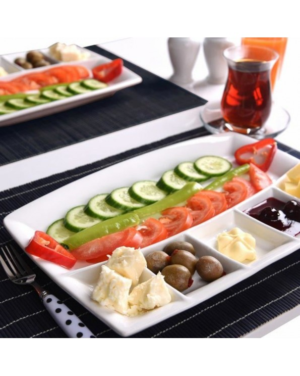 Cosiness Seramik 6 Bölmeli Kahvaltı Tabağı